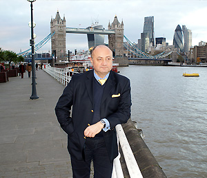 Sasha prior to a business meeting in Central London; December 2013.